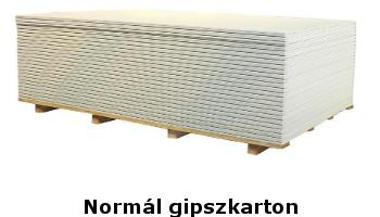 Normál gipszkarton 9,5 mm