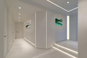 Rejtett világítás, villany és klímaszerelés gipszkarton falba