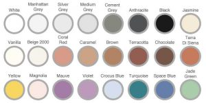 Mapei Mapesil AC penészedésálló szilikon színek