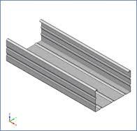 CW gipszkarton profil 100x50x3500 mm