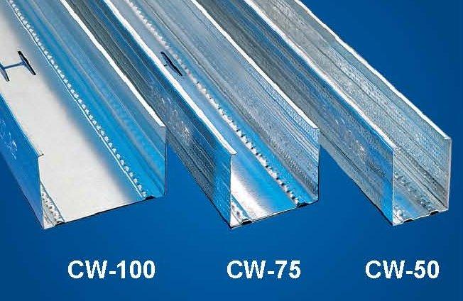 CW gipszkarton profil 100 x 50 x 3000 mm