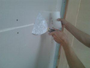 Gipszkarton fal élek sarkok élvédőzése bandázsolása
